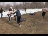 СС   Русские CC против Дагестанских бойцов 20 на 20 Русские СС Выиграли Уличная драка бой война Русские бои драки