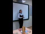 Тонечка поет на родительском собрании в муз.школе